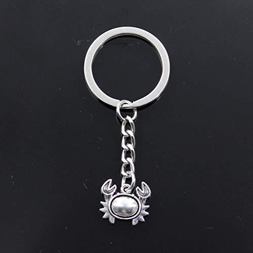 Preisvergleich Produktbild WANGY Schlüsselbund 17x15mm Krabbe Silber Farbe Anhänger DIY Männer Auto Schlüsselanhänger Ringhalter Souvenir für Geschenk
