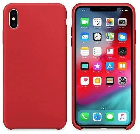 New Phoone - Funda de Silicona iPhone | Funda iPhone XR Funda Ligera con Tacto Suave, Resistente y Antigolpes de Color Rojo