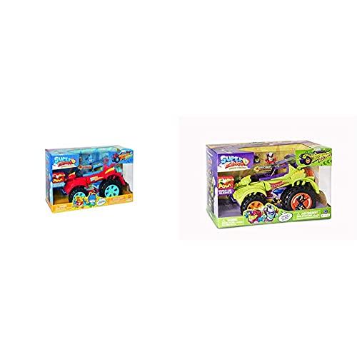 Superzings Playset Hero Truck (Pszsp112In20) Con Veicolo E 2 Figure Speciali & Playset Villain Truck (Pszsd112In30) Con Veicolo E 2 Cifre Da Collezione