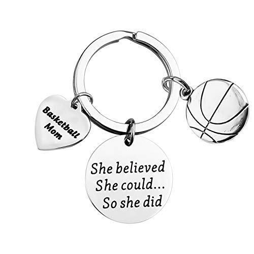 BLEOUK Basketball Mom Jewelry She Believed She Could So She Did Basketball Mom Insparational Gift