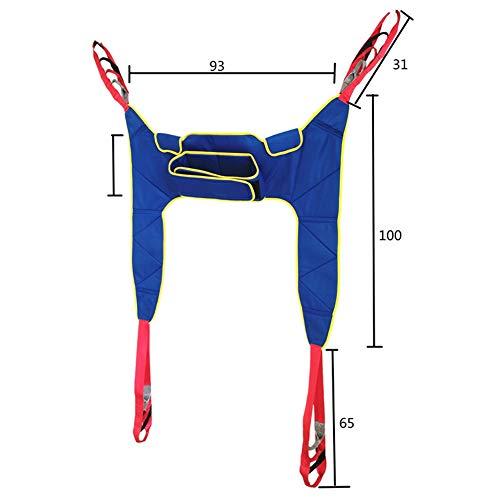 419uPM4Om8L - WPY Arnés De Elevación De Paciente De Cuerpo Completo, Paciente Cinturón De Transferencia con Ajustable Altura para Posicionamiento Y Elevación De La Cama,Enfermería