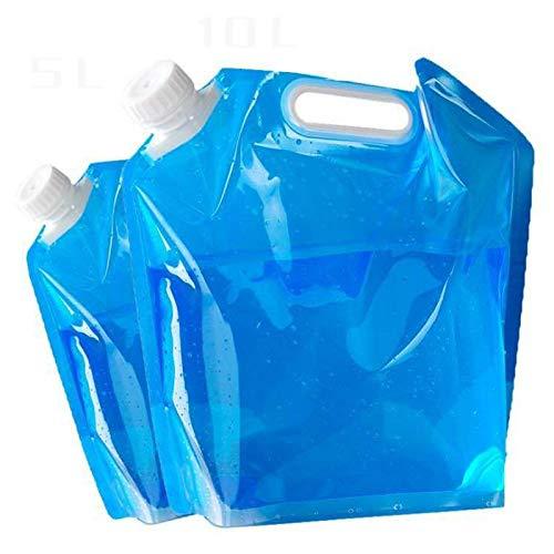 BECCYYLY Recipiente de Agua de Color Plegable 5L / 10L Bolsas de Agua Potable Resistentes al Desgaste Bolsa de Agua para Barbacoa para Acampar al Aire Libre Herramienta   Bolsas de Agua / 3 Piezas