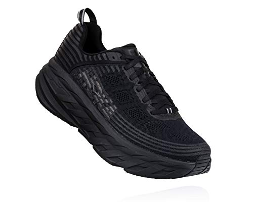 HOKA ONE ONE Womens Bondi 6 Mesh Black Black Trainers 5.5 US
