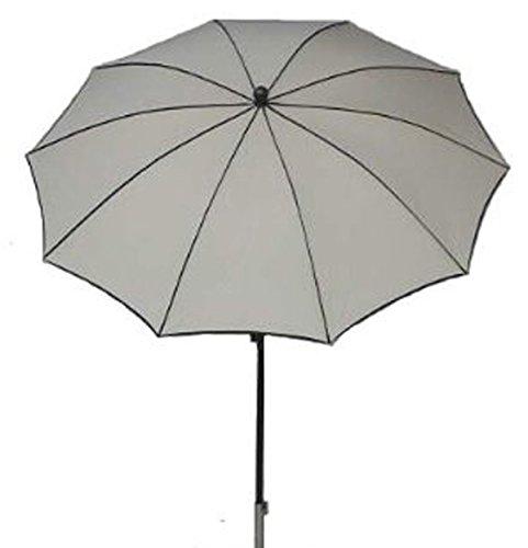 PEGANE Parasol Rond, Tissu dralon Coloris écru - Dim : 140/10 - D 280 cm