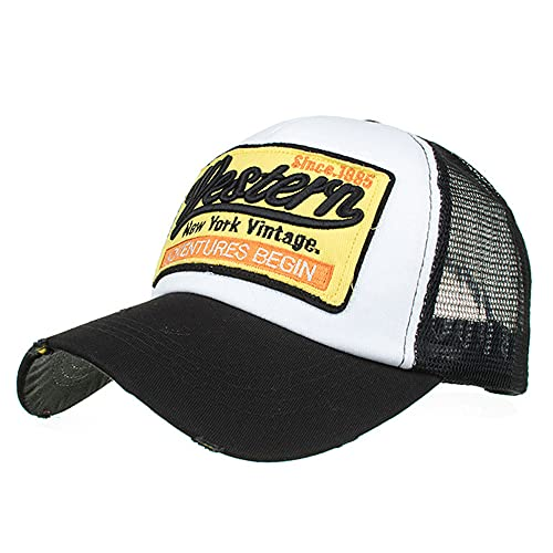 Dariobee Cappellino a Rete per Uomo Donna Ricamato Cappelli Traspirante Cappello con Visiera da Baseball Estivo Hip-Hop Unisex Casuali Hip Hop Hat