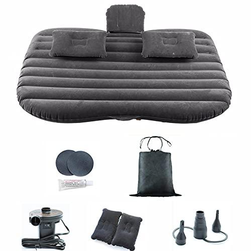 HSTG Colchón Inflable del Coche, colchón de Aire de Coche con Almohada y Bomba de Aire, Cama de Aire de Respaldo del Coche, Estera para Dormir portátil, Adecuado para Viaje de Camping