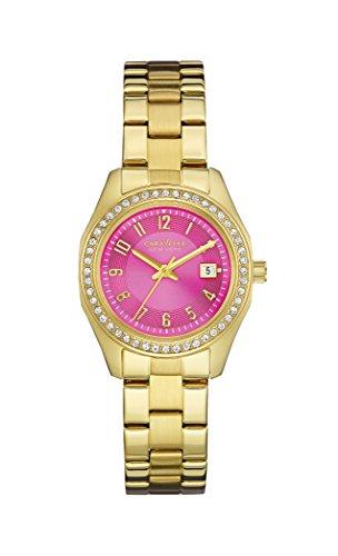 Caravelle New York de mujer reloj de pulsera rosa y oro analógico cuarzo, revestimiento de acero (44M107