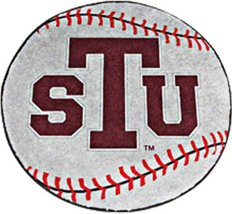 Texas Southern Tigers NCAA Baseball Round Floor Mat (29)