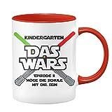 Taza de comienzo escolar, diseño con texto en alemán 'DAS Wars' Episodio 2 Möge die Schule mit Dir Sein - Regalos para la escolarización - regalos para niños