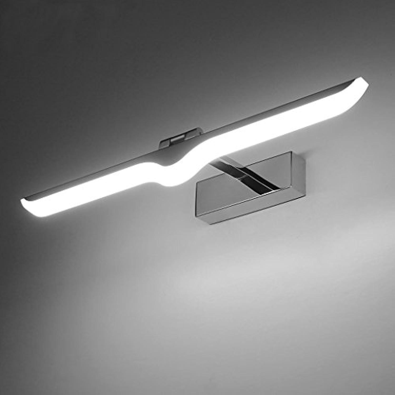 LED-Spiegel-Scheinwerfer-Metallkommode-Schlafzimmer-Licht, wasserdichtes Wandschrank-Licht-Waschbecken-Licht, justierbares Badezimmer-Licht 12W silbernes Wei ( Farbe   Weiß light )