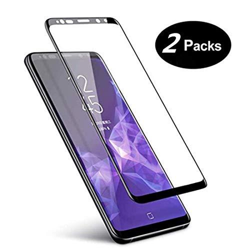 Displayschutzfolie für Galaxy S9, [2 Stück] Samsung Galaxy S9 Schutzfolie, 3D gebogen, volle Abdeckung, gehärtetes Glas für Samsung Galaxy S9 (5,8 Zoll)