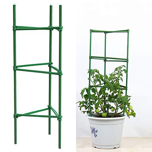 LIDEBLUE Rankhilfen für Tomatenkäfig, verstellbar, für Kletterpflanzen, Gemüse, Blumen, Ranken, 36 Stück