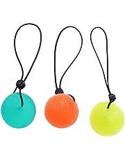 3 قطع من LIOOBO قبضة اليد مقوي إصبع قبضة الكرة العلاج تمارين الضغط البيض كرات إزالة الضغط الأخضر والبرتقالي والأصفر زينة عيد الميلاد
