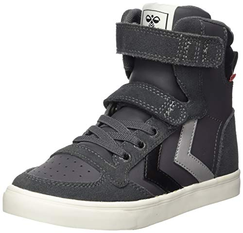 hummel Unisex-Kinder SLIMMER STADIL HIGH JR Sneaker, Asphalt, 35 EU