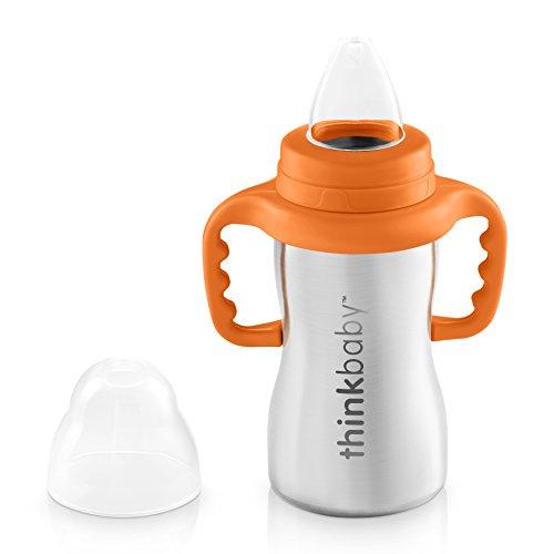 Thinkbaby Sippy of Steel : biberon en inox pour bébé, sain (sans BPA) et écologique ; contenance 290ml