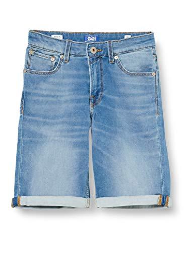 Jack & Jones Junior Jungen Jjirick Jjicon Ge 003 I.k Jr Jeans Shorts, Blue Denim, 170 EU
