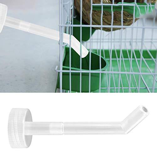 Caiqinlen Vogelkäfig Zubehör Vogelwasserzuführung, Vogelfütterungszubehör, robust und langlebig, 4,3 x 1,2 x 1,2 Zoll Vogelplastik-Futterröhrchen für Papageien aus Pet Sotre