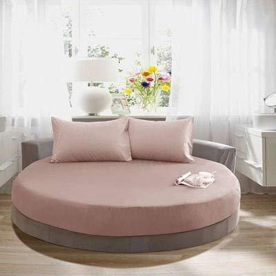 Heguowei Sábana de Cama Redonda de algodón, Colcha Multicolor, Funda de Cama Suave Lavable, colchón, 200 cm * 220 cm
