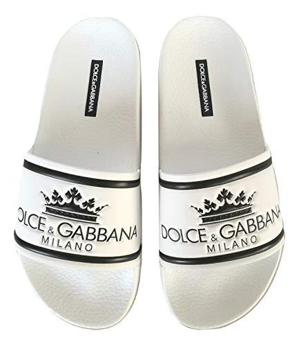 Dolce & Gabbana Ciabatte Sandalo in Gomma Uomo CS1630 AU679 HWR18 Bianco 40