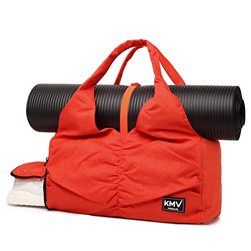 Travel Yoga Bag for Women, Carrying Workout Gear, Makeup, and Accessories, Shoe Compartment and...