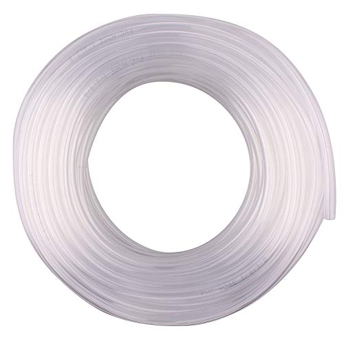 DERNORD PVC Tubing 1/4'ID X 3/8'OD Flexible Clear Vinyl Hose 100 Feet for Food Grade