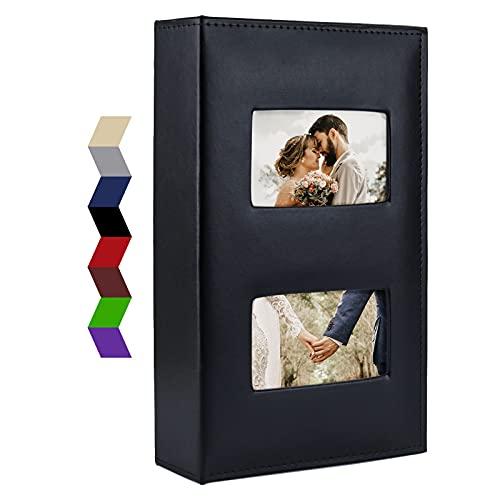 Vienrose Album Foto 10x15 cm 300 Tasche, Album Fotografico in Pelle Con Copertina Cornice Grande Capacità, per Matrimonio Famiglia Bambini Vacanze