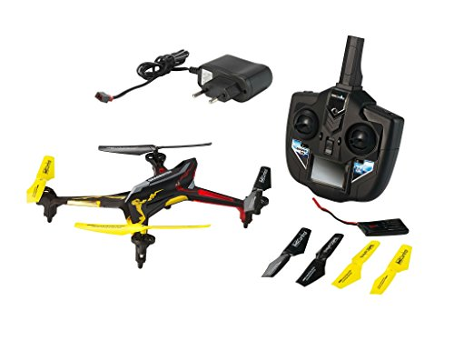Revell Control RC Quadrocopter, ferngesteuert mit 2,4 GHz Fernsteuerung, 780 mAh Akku, schnell und wendig, Geschwindigkeisstufen und Flip-Funktion, Headless, LED-Beleuchtung, robust, QUADROTOX 23913