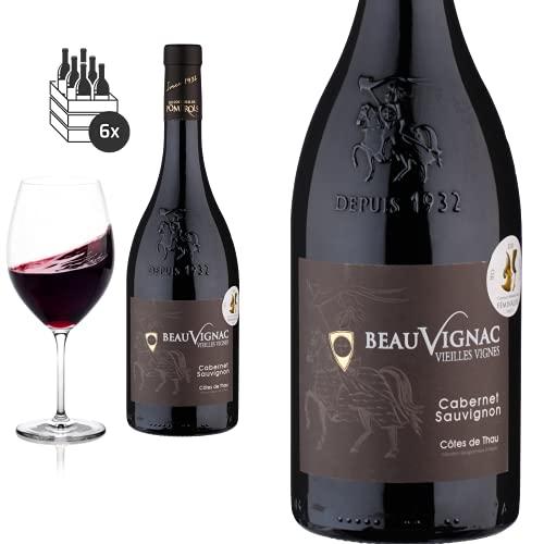 6er Karton 2019 Cabernet Sauvignon Vieilles Vignes Beauvignac von Costières de Pomerols - Rotwein