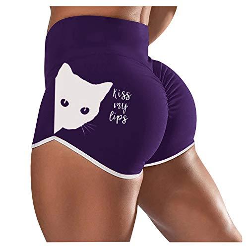 Mingyun Sommer Jogpants Damen Fitness Shorts Kurze Hosen Yoga-Hose Radlerhose Sexy Sporthose Damenhosen