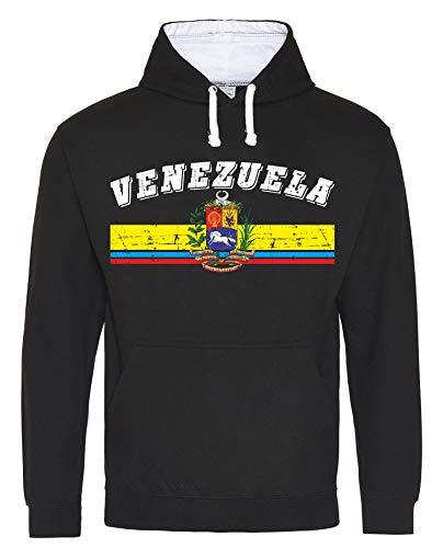 Aprom-Sports Venezuela D03 SchWe - Sudadera con capucha para el mundial de fútbol Negro XXL