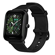#LightningDeal Amazfit Bip U Pro Smart Watch with Alexa Built-in for Men Women, GPS Fitness Tracker with 60+ Sport Modes, Blood Oxygen Heart Rate Sleep Monitor, 5 ATM Waterproof, for iPhone Android Phone (Black)