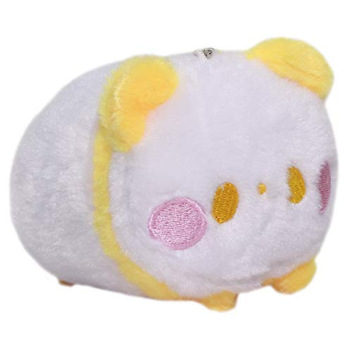 Plush Super Soft Mochii Cute Panda Japanese Squishy Plushie Toy Kawaii Bear Yellow White Keychain Size