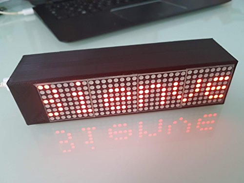 Smart Led Messenger l'afficheur Connecté (Noir)