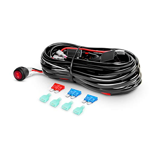 Nilight LED Light Bar Wiring Harness Kit 12V On off Switch Power Relay Blade