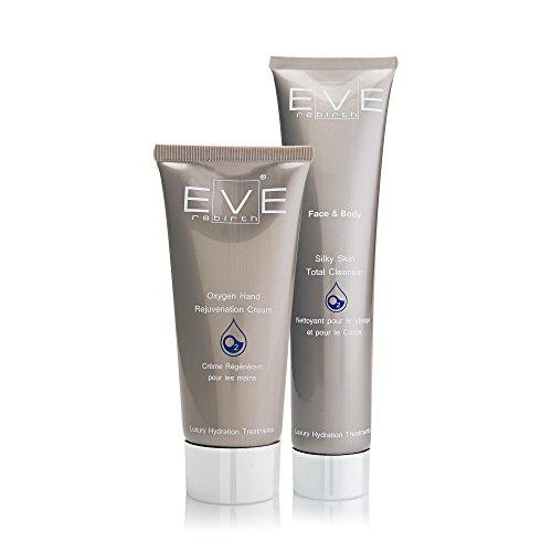 EVE REBIRTH Kit : Crème pour Mains, 100 ml + Nettoyant Visage/Corps, 200 ml