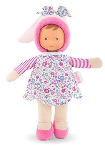 Corolle- Miss Fleurs Doudou poupée, 010070, Rose