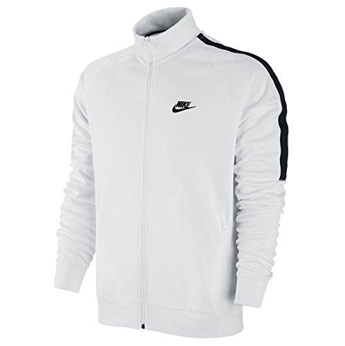 Nike Tribute Track Jacket, Giacca Tuta Uomo, Bianco/Nero, XL