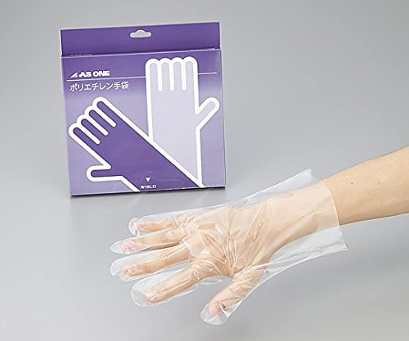 ヘルパーによると地震アズワン2-4977-02ポリエチレン手袋ヘビー厚手エンボス付M100枚入