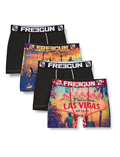 Freegun Herren LAS VEGAS FG/AM/1/PK4 Unterwäsche, P2, XL (4er Pack)