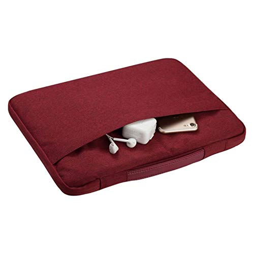 KK&LL For HUAWEI MateBook 13 14 /E/X 13 / X Pro/D 15.6'/Honor MagicBook Pro 14 16- Laptop Notebook Carrying Sleeve Case Bag (Color : Wine red, Size : MateBook X 13)