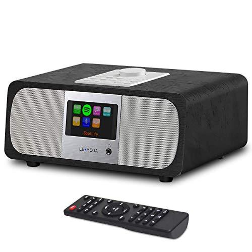 LEMEGA M3A All-in-One 25W stereo internet DAB + & FM digitale radio met Bluetooth, Spotify conncet, ingebouwde subwoofer, USB, Aux & TFT-kleurendisplay - zwart