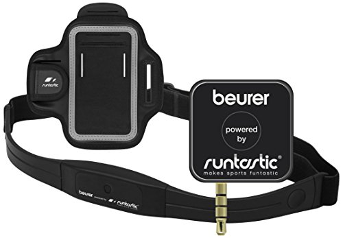 Beurer PM-200 - Dispositivo pulsímetro para Smartphone, App Runtastic Pro, Color Negro