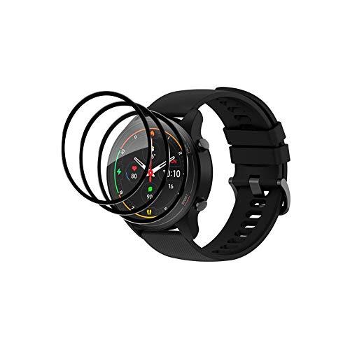 Fitudoos [3 pezzi] Film protettivo in vetro temperato compatibile con Xiaomi Mi Watch, [antigraffio], [applicazione facile], [Durezza 9H],[Copertura completa]