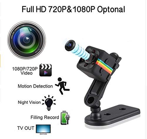 Mini Spy Cam 1080 HD La Telecamera Videosorveglianza Più Compatta Dotata Di Rilevatore Di Movimento E Supporto Infrarossi Per Visione Notturna per la Casa, l'ufficio e la Sicurezza di Guida
