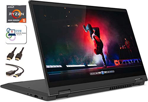 "Lenovo Flex 5 14"" 2-in-1 Convertible Touchscreen FHD Laptop Computer PC, Ryzen 5 4500u, 16GB RAM, 256GB SSD, Fingerprint, Backlit Keyboard, HDMI, Webcam, Stylus, Windows 10 + CUE Accessories Bundle"