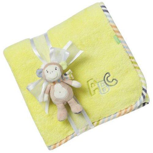 Fehn 081862 Kuscheldecke Affe / Kuschelige Schmusedecke für Babys und Kleinkinder ab 0+ Monaten - zum Kuscheln, als Krabbelunterlage oder Schnuffeltuch, Maße: 100x75cm