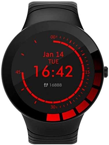 Pulsera inteligente de tacto completo Pulsera de prueba de reloj inteligente Fitness Tracker Monitor de ritmo cardíaco para Android e IOS Negro-Negro