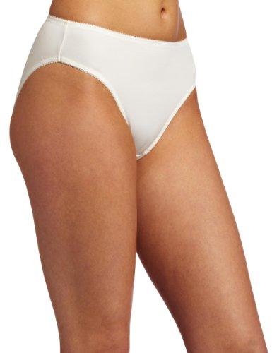 Carnival Womens Micro Hicut Bikini Panty, Ivory, Medium
