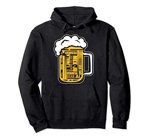 Bière Langue Différent Types Alcool Buveuse Amoureux Cadeau Sweat à Capuche