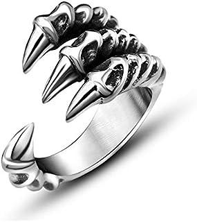 شخصية الاستبداد خاتم الأطفال الفضة مخلب الذيل الدائري مجوهرات الرجال فتح حادة